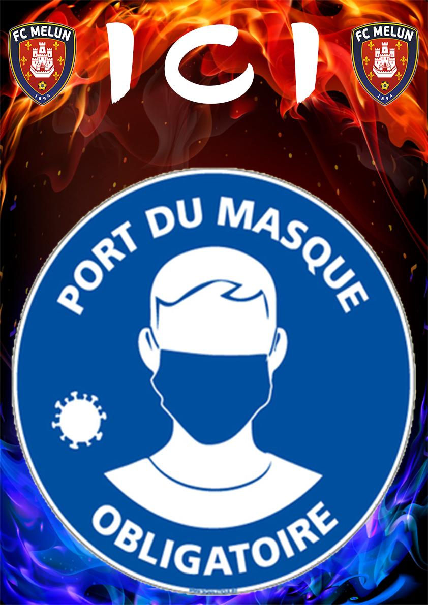 ☢️ COVID ⚠️ Le FC Melun vous informe que le port du masque devient obligatoire dans l'enceinte du stade Paul Fisher et Municipale à partir de ce vendredi 28 Août