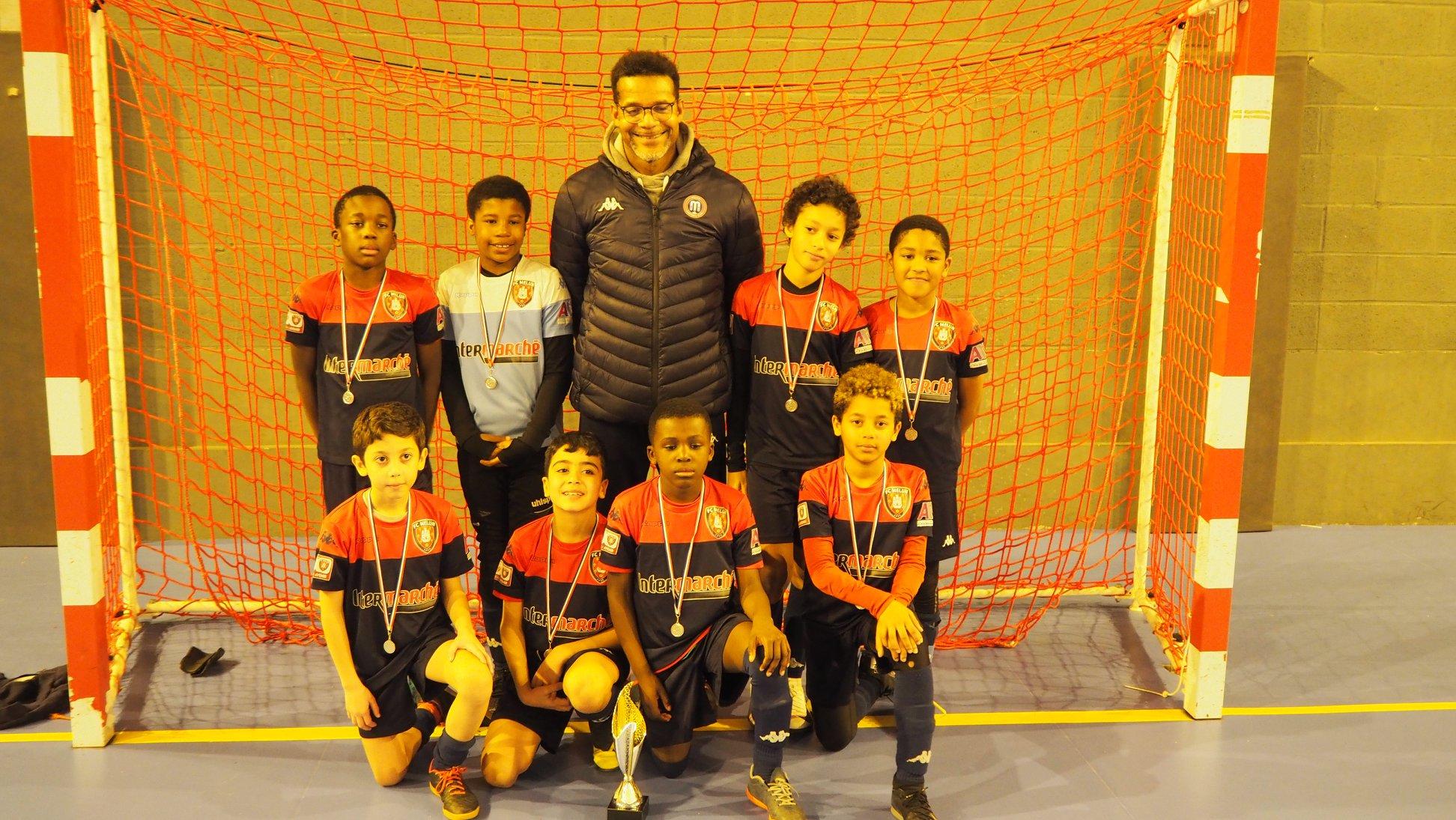 U10 de Joël Vainqueur du Tournoi Melun Cup Futsal le 05/01/2020