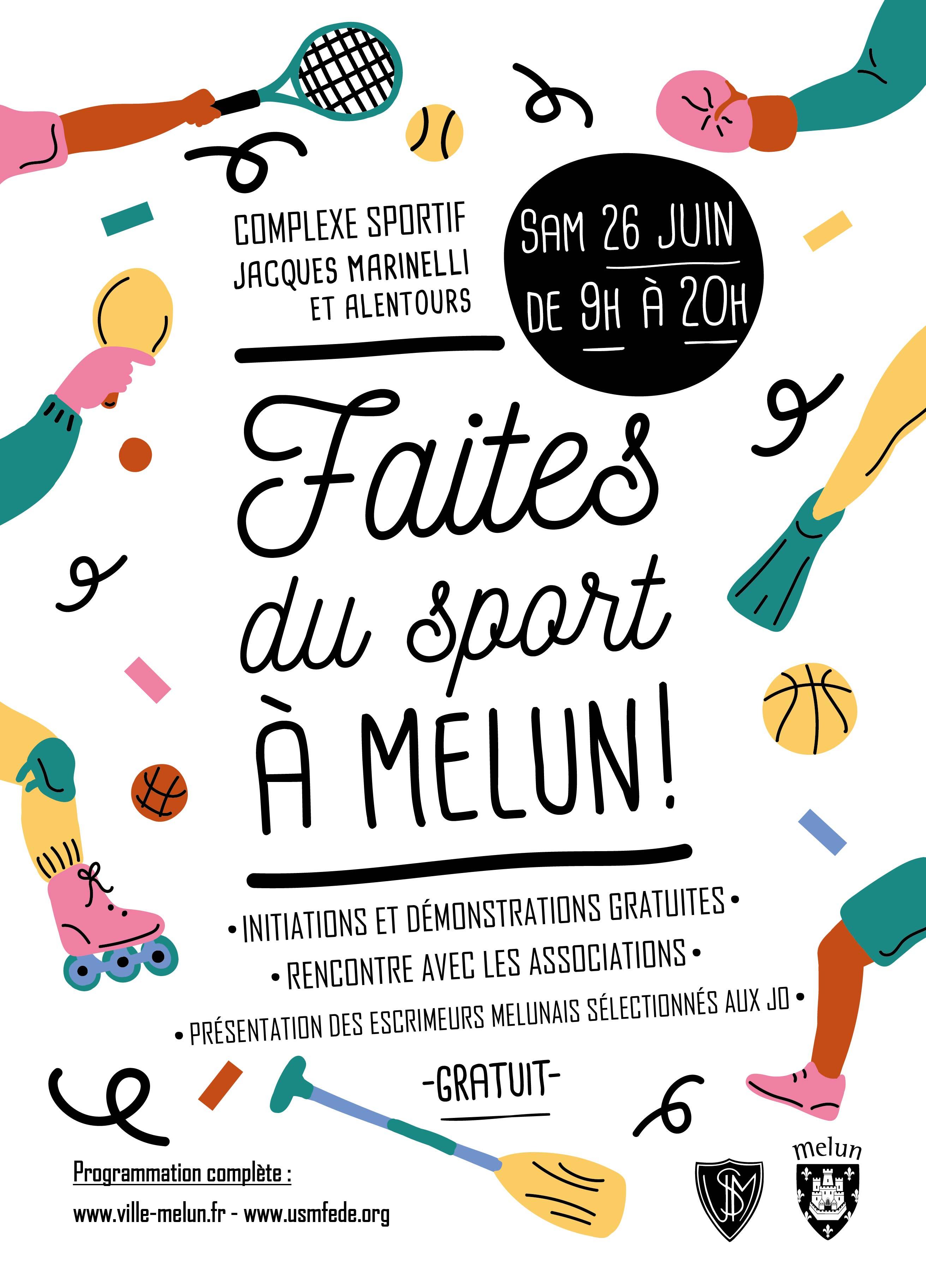 📅 La Ville de Melun organise la samedi 26 Juin, la Journée «Faites du Sport à Melun» L'occasion de découvrir les sports proposés par la ville et de profiter des différentes animations mises en place ce jour là.  🔵 #TeamFCMelun 🔴