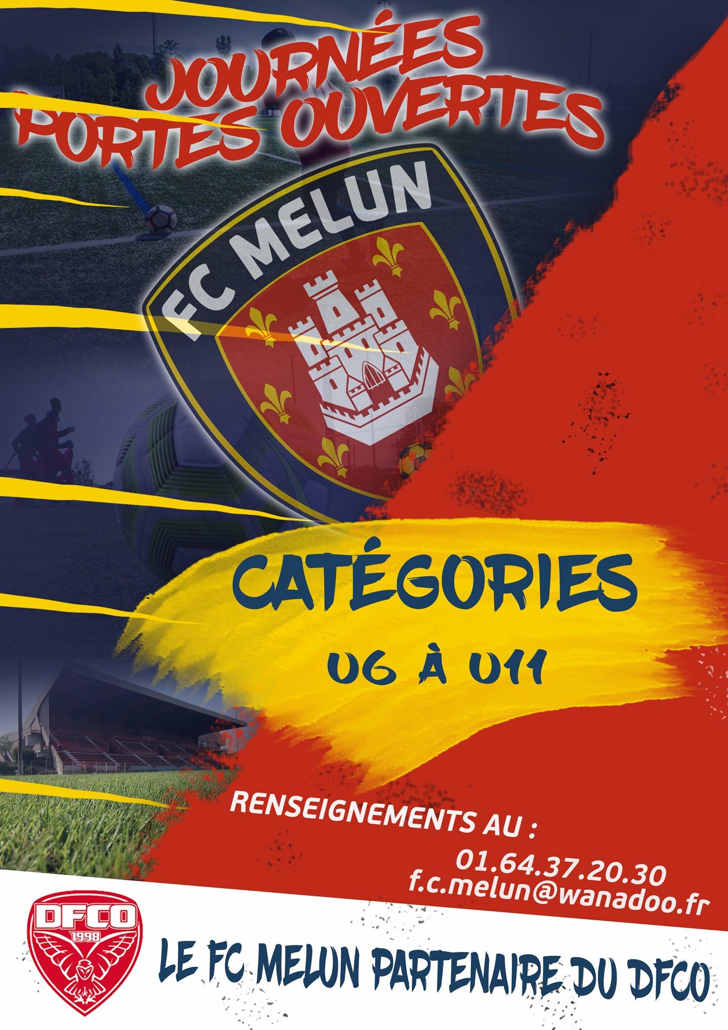 📣 En vue de préparer la prochaine saison 2021-2022, le FC Melun organise sa dernière journée portes ouvertes, pour son Ecole de Football. 🧒👧 Section Garçons et Filles 🧒👧