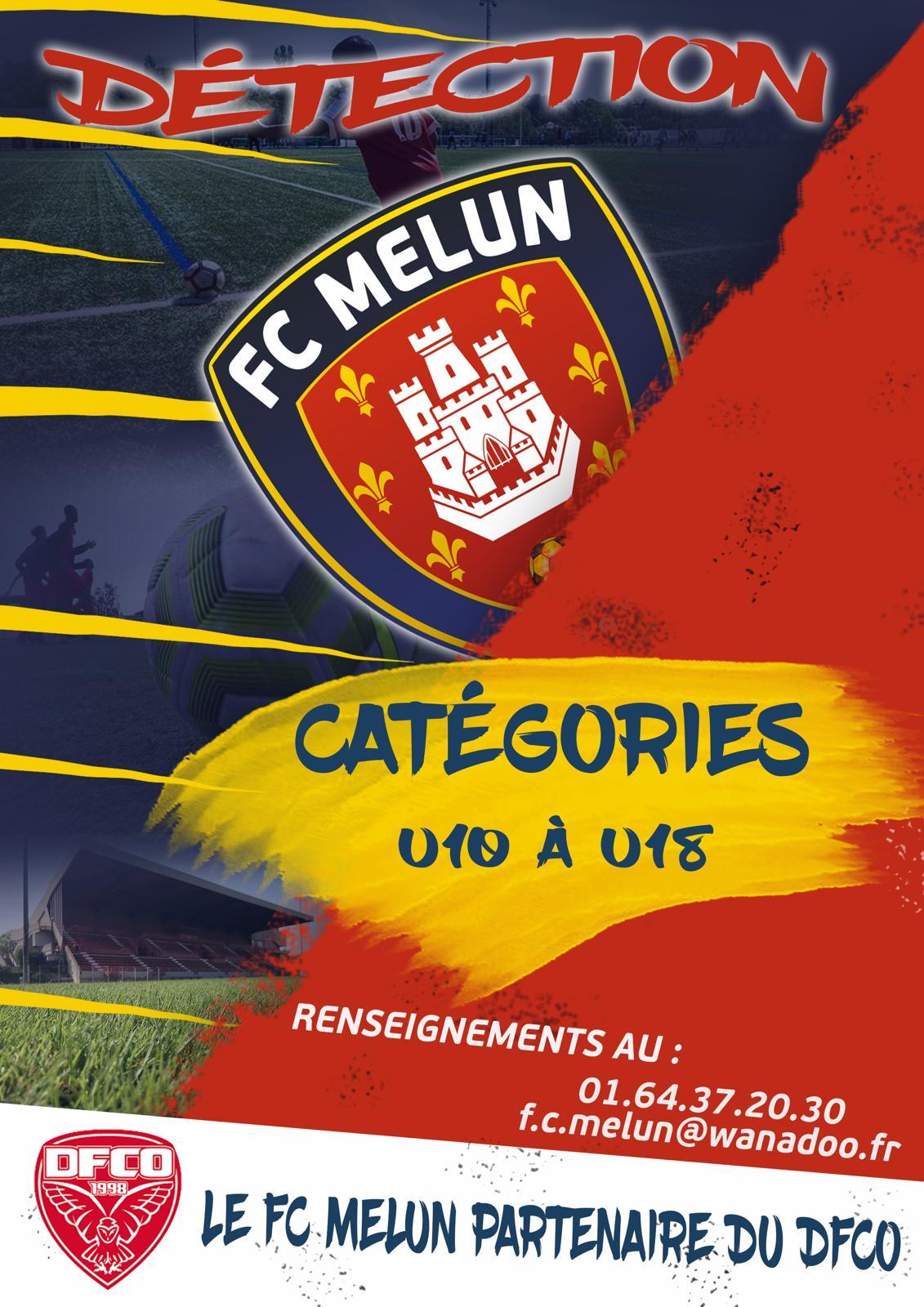 🚨 [DÉTECTION] 🚨    🔎 En vue de préparer la prochaine saison 2021-2022, le FC Melun organise des journées de détection en direction des joueurs U10 à U18.